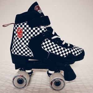 Shoes - Checkered Roller Skates